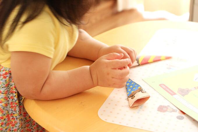 Z会の2歳3歳向け『あとのびおためしブック』を2歳が体験!