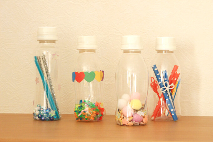 手作りペットボトルマラカスのデザイン例