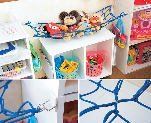 布おもちゃや布絵本はハンモック方式の吊り下げ収納がベター