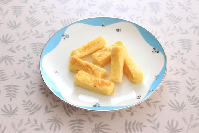 手づかみ食べ用のフレンチトースト