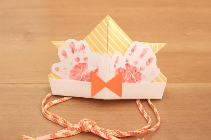折り紙で作るかぶれる兜の前立て部分