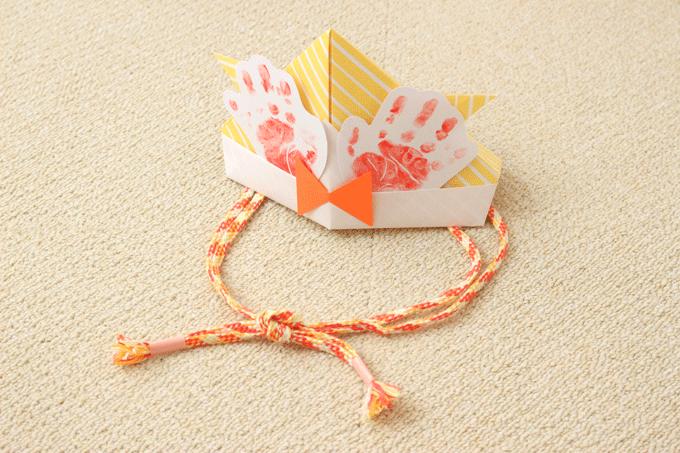 折り紙で作るかぶれる兜の完成図