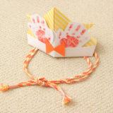 折り紙のかぶとの作り方!立体&手形&かぶれるサイズでメモリアル感アップ♪