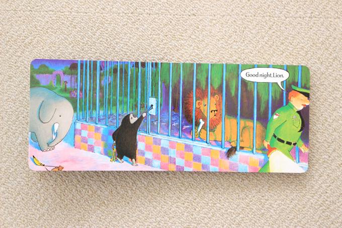 絵本good-night- gorillaのライオンの檻