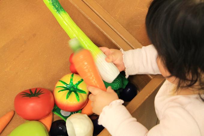 おままごとコーナーの野菜