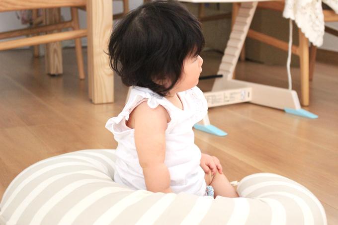 授乳クッションは赤ちゃん用にもなる