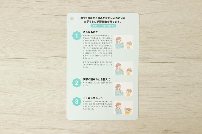 くもんの漢字カードの使い方