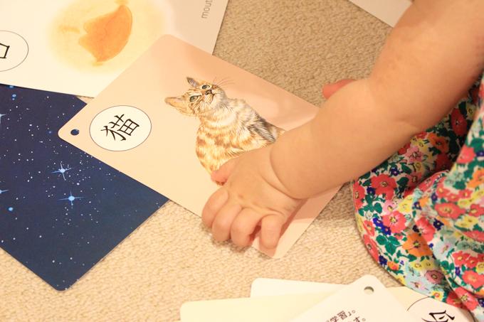 0歳児でもカードのおかげで漢字を覚えました