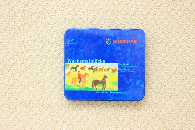 シュトックマーの蜜ろうクレヨン8色缶入りセット