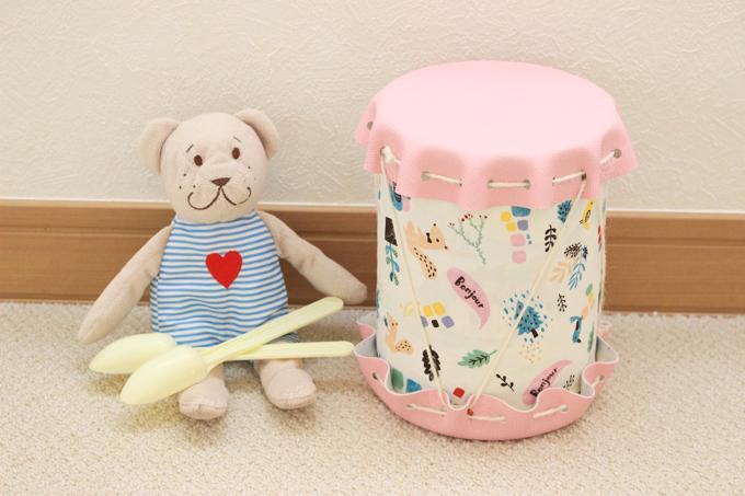 太鼓を手作りしよう!ミルク缶と100均で簡単可愛い、赤ちゃんのおもちゃが完成!