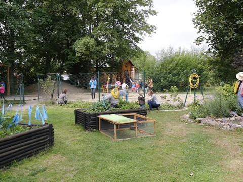 フローベル幼稚園 自然観察ができる園庭