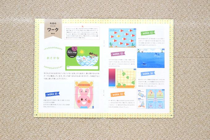 学研プティパの教育情報誌『Petitクリエ』 ワークの内容紹介のページ