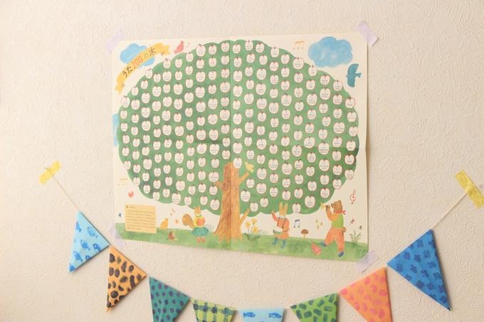 くもんのうた200の木ポスター