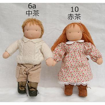 ウォルドルフ人形B体キット(一部縫製済)