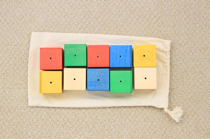 ワールドワイドキッズのオリジナルカラーのベビーキューブ