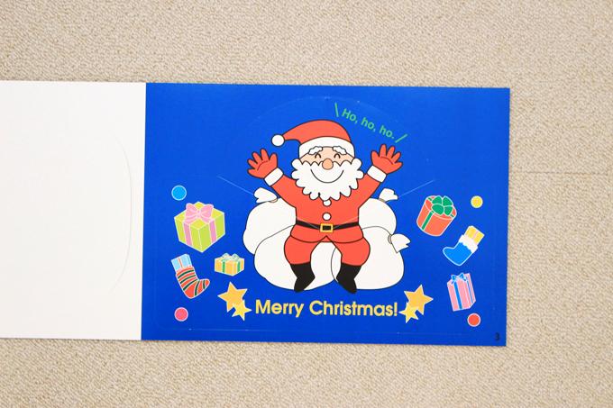 ヤマハ英語教室オリジナル教材クラフトブックの中身(クリスマス)