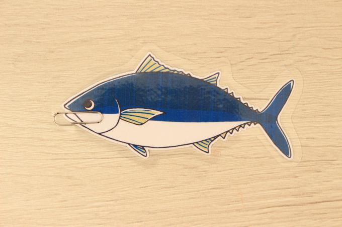 クリップをつけた魚のパーツ
