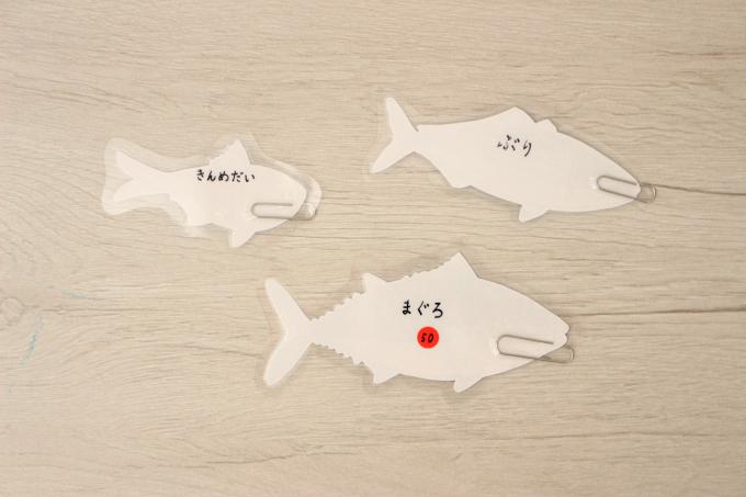 魚の名前を裏面に書いたりポイント制にする