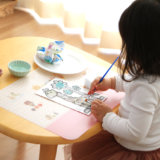 セリアの水塗り絵レビュー!筆付きでスグ遊べて、きれいに色がつく!