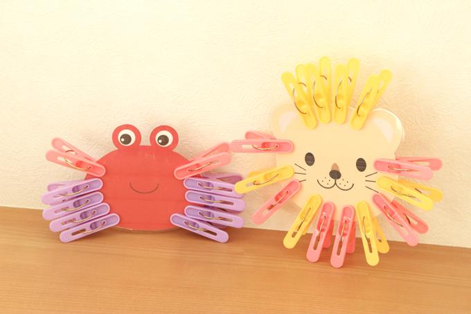 洗濯バサミおもちゃを手作り!アートと指先の知育が同時にできる[型紙ダウンロード配布]