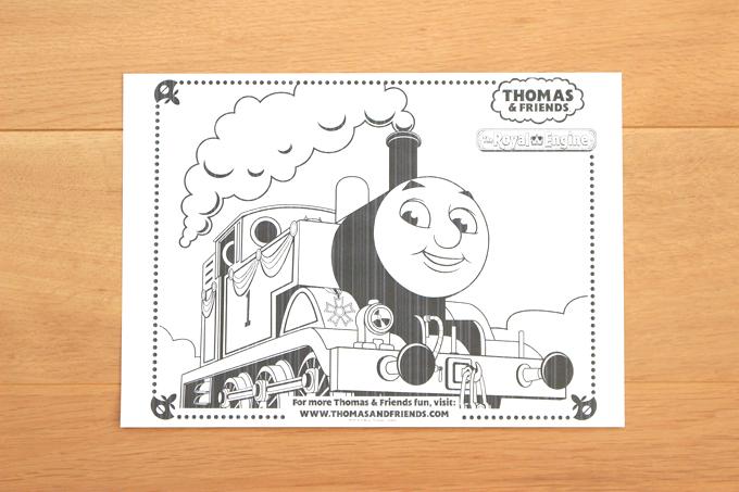 トーマス英語版サイトのキャラクター塗り絵