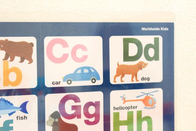 各アルファベットごとにタッチできるところが3つある