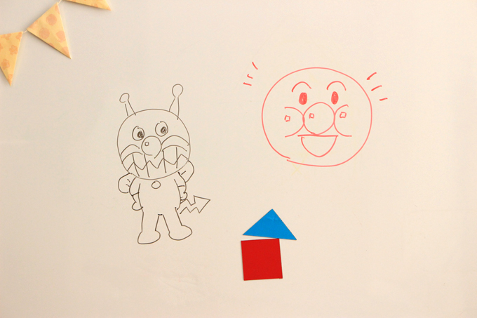 子どものリクエストで絵を描いたりもする