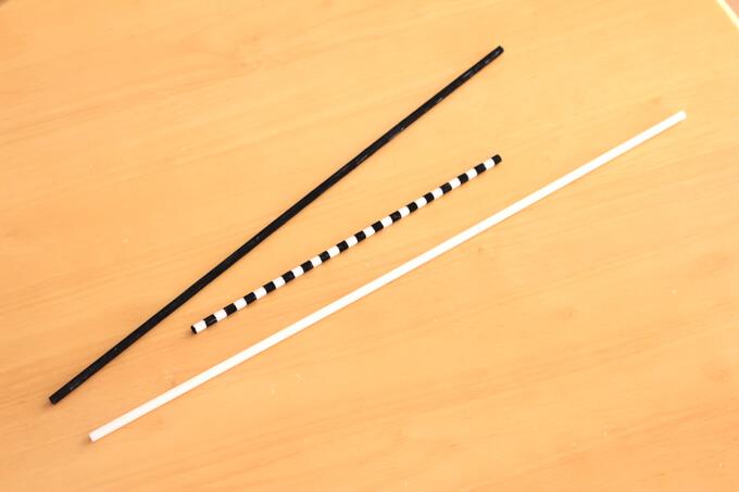 3種類の棒が出来上がったところ
