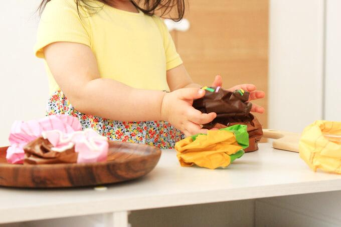 幼児でも立体ドーナツを作れて遊べる