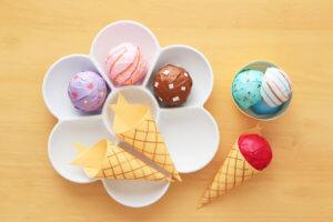 折り紙の立体アイスクリームの作り方!コーンとカップが選べちゃう楽しいおもちゃ