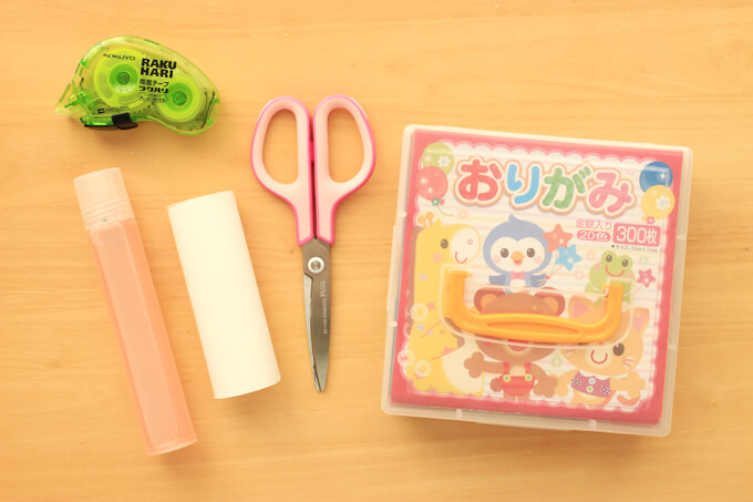 折り紙の立体ドーナツの材料と道具
