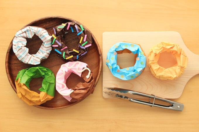 折り紙の立体ドーナツの種類色々