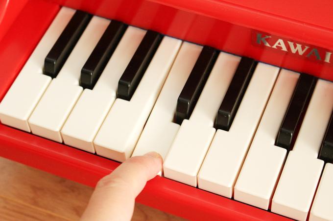 鍵盤を押したところ