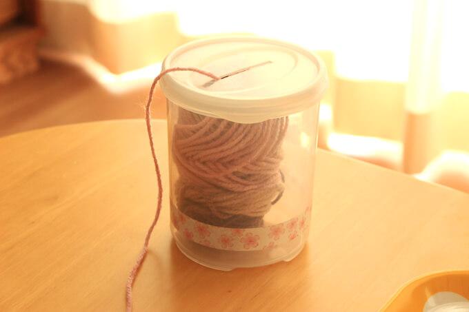 100均の細い毛糸