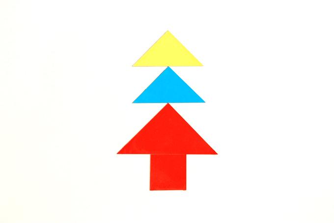 タングラムパズルで作った木
