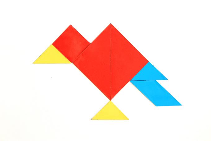 タングラムパズルで作った鳥