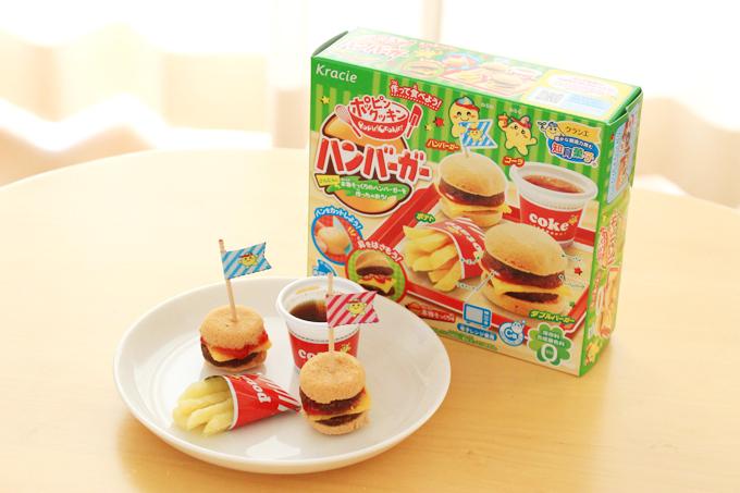知育菓子のハンバーガーを作った様子