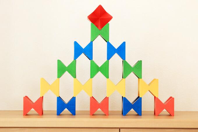 角積みで作った山