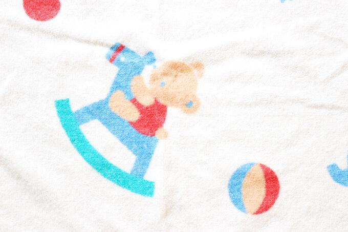 こどもちゃれんじベビーで資料請求したファミリアのバスタオルの柄
