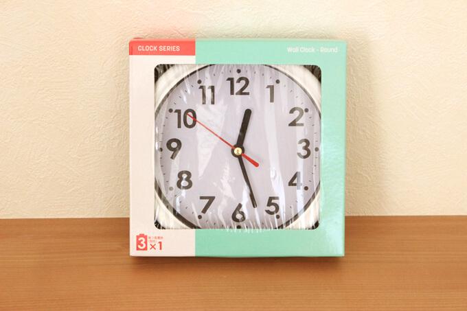 ダイソーNO.35028 掛け時計カジュアル(100円+税)を使用