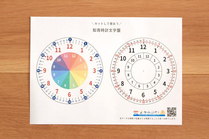 印刷した文字盤シート