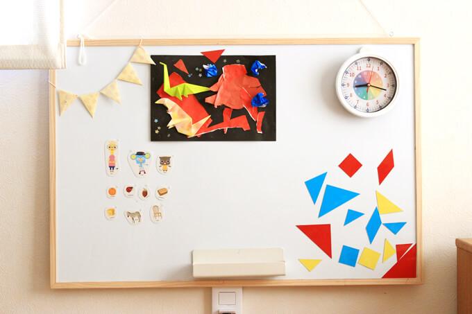 手作り知育時計を使った子どもの反応