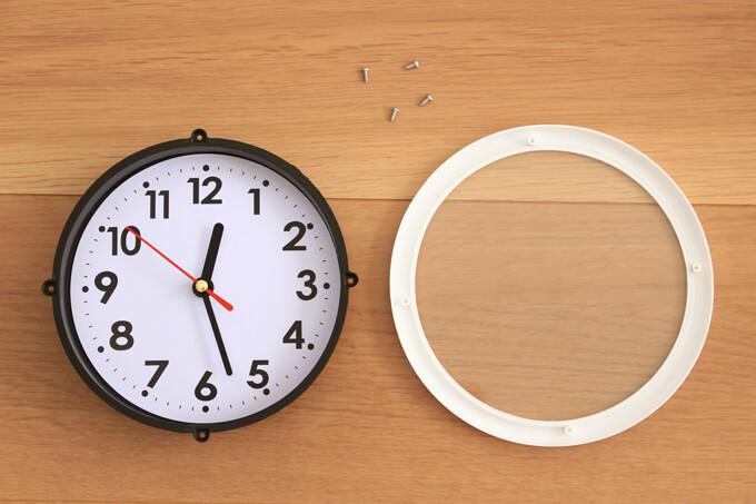 時計のカバーを外す