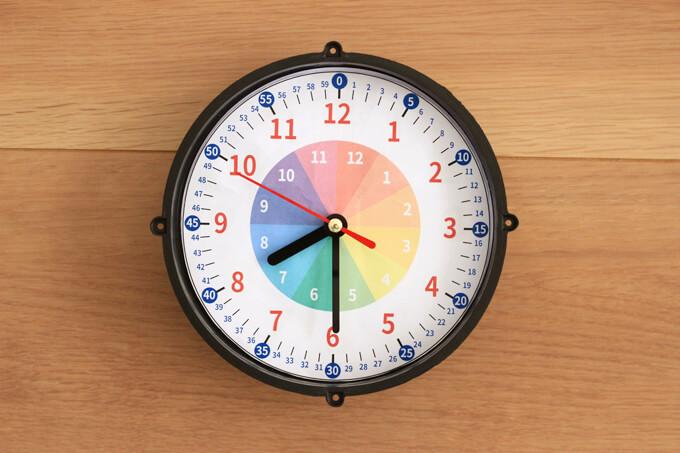 短針・長針・秒針の順番に針を戻す