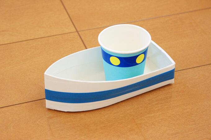 幼児 牛乳パック 船