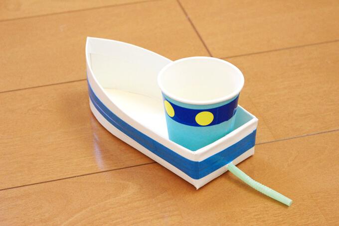 牛乳パック船の完成図