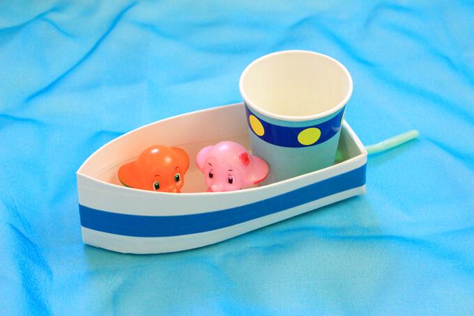 牛乳パック船の簡単な作り方。スイスイ進んでアレンジも色々、楽しく作ろう!
