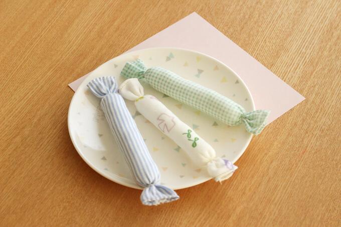 赤ちゃん用にぎにぎ「キャンディスティック」手作り方法