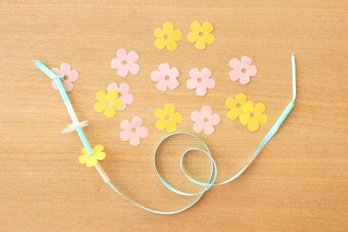 【クリアファイル】お花のひも通し