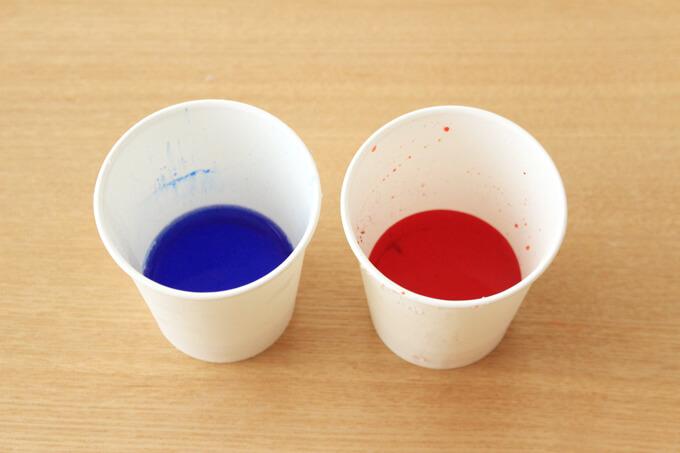 色紅の色水